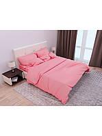 Двуспальный комплект постельного белья Страйп-Сатин Коралловый 200х220 см  (541640)