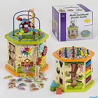 Деревянный Логический куб С 39186