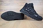 Мужские зимние кроссовки Adidas Jogger с мехом (черные), фото 4