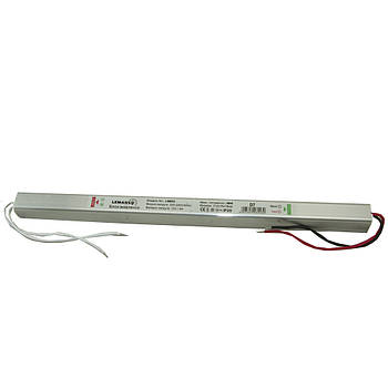Блок питания металл для светодиодной ленты 48W 12V 4A IP20 312x18x18mm LEMANSO LM853 D100