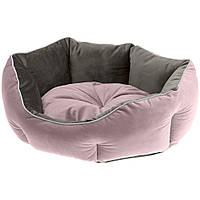 Лежак двухсторонний Ferplast Queen (пурпурный/бежевый) #45, фото 1
