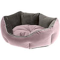 Лежак двухсторонний Ferplast Queen (пурпурный/бежевый) #60, фото 1
