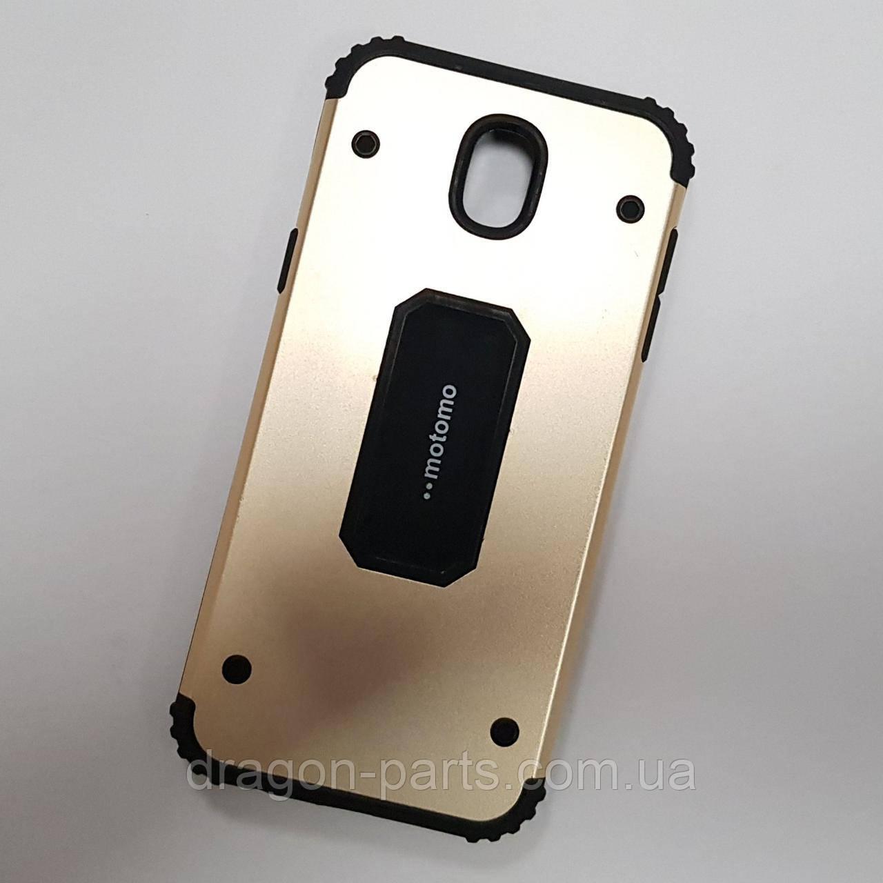 Чехол бампер Motomo для Samsung Galaxy J5 J530 2017 золотой