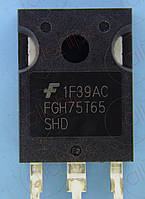 MOSFET IGBT 650В 150А Fairchild FGH75T65SHD TO247