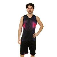 Форма баскетбольная мужская LD-8007-4 (PL,  черный-фиолетовый ), фото 1