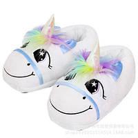 Мягкие Тапочки-игрушки плюшевые единороги
