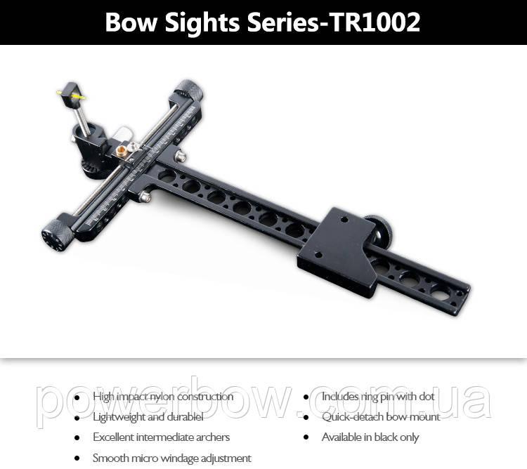 Прицел спортивный для лука Topoint TR1002 черный