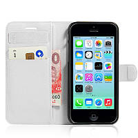 Чехол-книжка Litchie Wallet для Apple iPhone 4 / 4S Белый