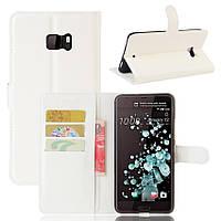 Чехол-книжка Litchie Wallet для HTC U Ultra Белый