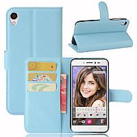 Чехол-книжка Litchie Wallet для Asus Zenfone Live ZB501KL Голубой