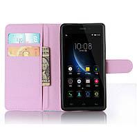 Чехол-книжка Litchie Wallet для Doogee X5 / X5 Pro Светло-розовый