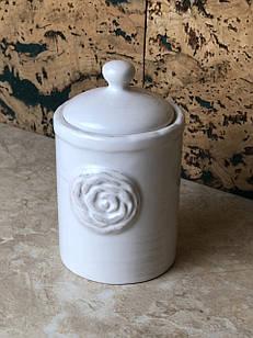 Цукорниця біла керамічна