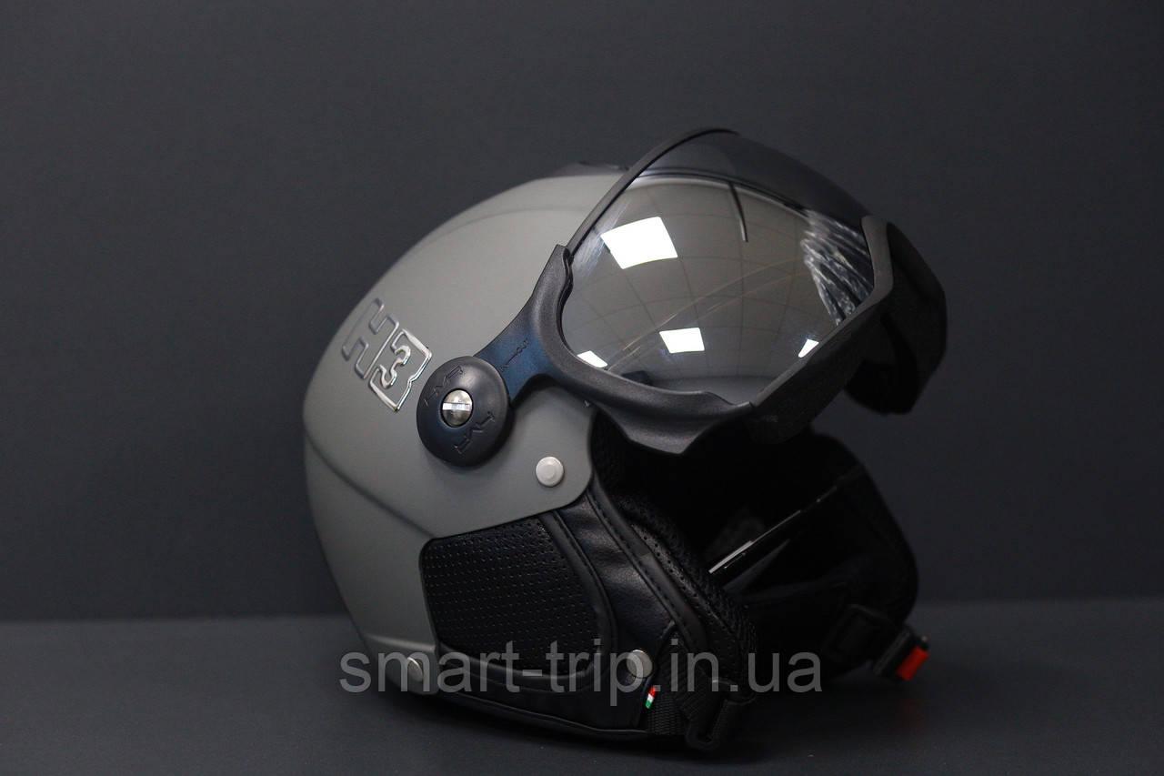 Шлем горнолыжный с визором HMR  Colori H3 Grigio Grey XXXL/XXL  017