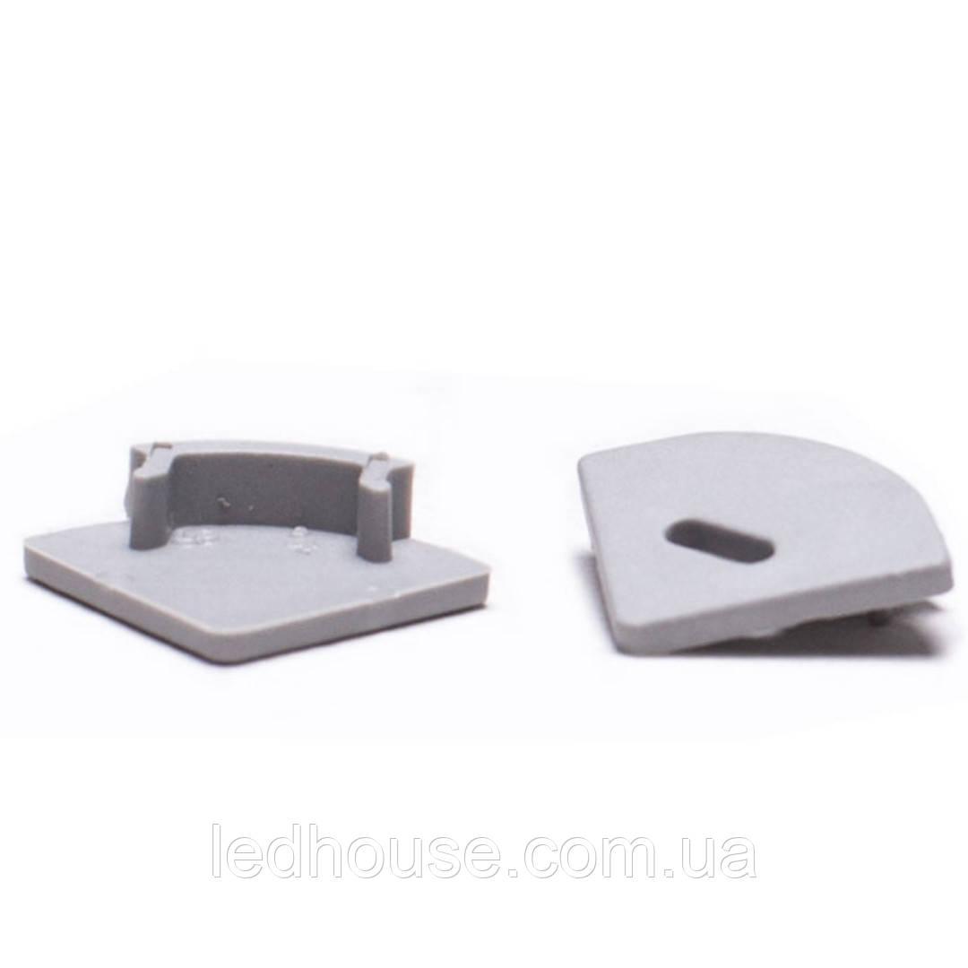 Заглушки для алюминиевого профиля ЛПУ-17 (угловой)