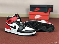 Женские кроссовки Nike Air Jordan 1 Retro (бело-черные)