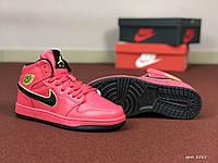 Женские кроссовки Nike Air Jordan 1 Retro (малиновые)