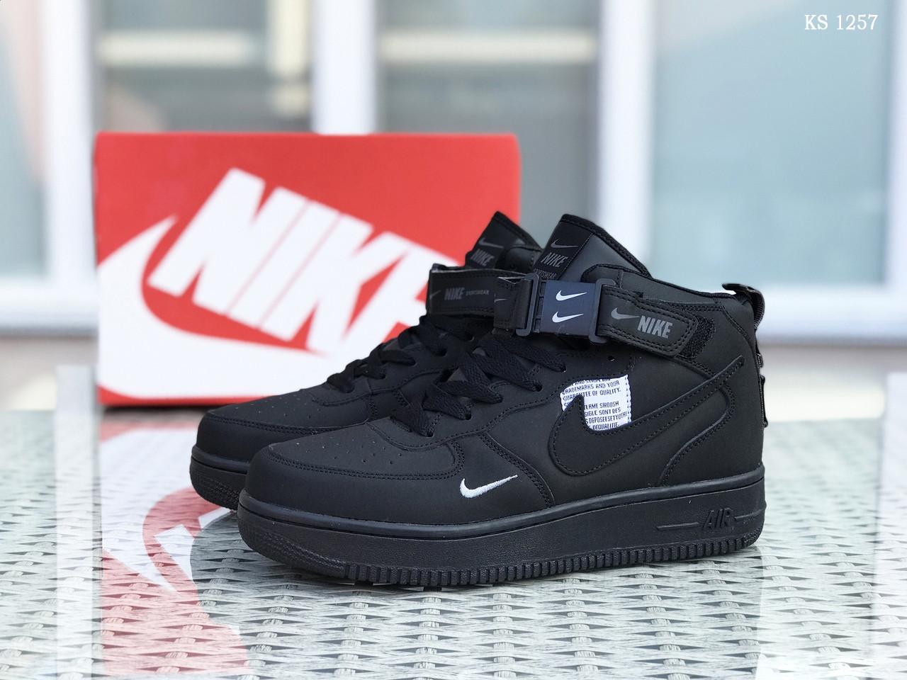 Чоловічі зимові кросівки Nike Air Force 1 LV8 High (чорні)