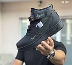 Чоловічі зимові кросівки Nike Air Force 1 LV8 High (чорні), фото 2