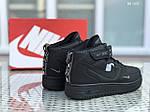 Чоловічі зимові кросівки Nike Air Force 1 LV8 High (чорні), фото 3