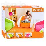 Надувное кресло Intex Cafe Club Chair 97x76x69 ИНТЕКС 68571G (Зеленое), фото 4