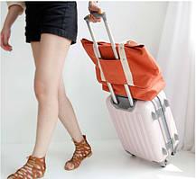 Сумка с отделением для обуви холст Winner оранжевая 02016/02