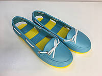 Мокасины Crocs женские Beach Line Boat Shoe бирюзовые 39 разм., фото 1