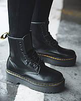 Ботинки Dr.MartensClassic (Черные)  Натуральная Кожа и Мех Женские размер 36