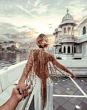 Картина по Номерам 40x50 см. Следуй за мной. Озеро Удайпур Rainbow Art