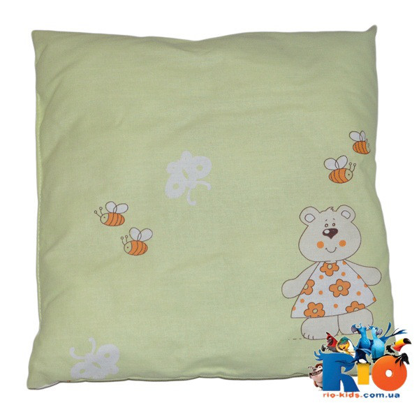 Детская подушка (хлопок) 40х40 см (мин зказ 1 ед)