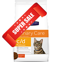 Лечебный сухой корм для котов Hill's Prescription Diet Feline Urinary Care c/d Multicare Chicken 1,5 кг
