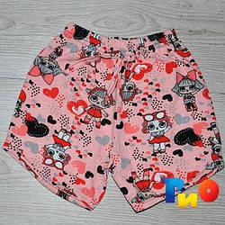 Детские летние шорты, для девочек от 5-8 лет (4 ед. в уп.)