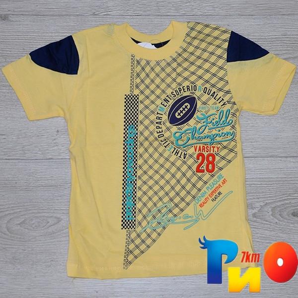 Детская трикотажная футболка  для мальчиков (4-8 лет) (5 ед в уп.)