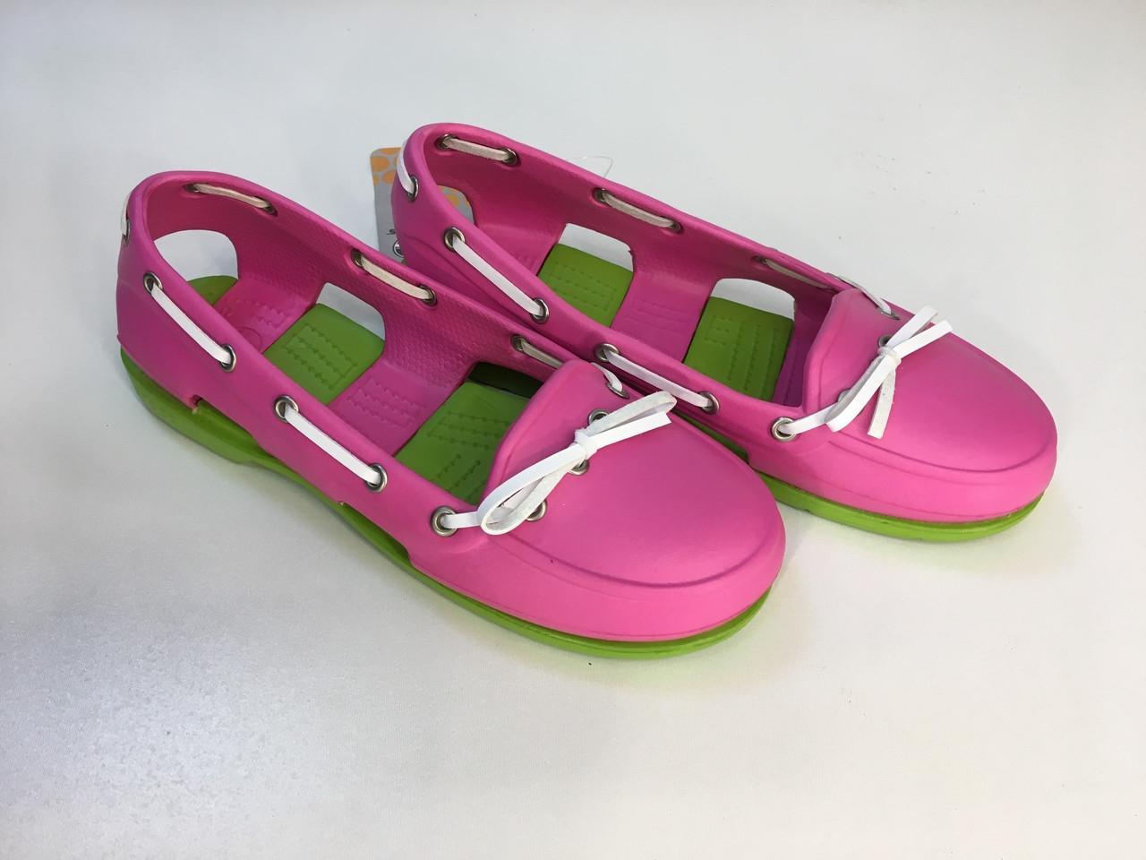 Мокасины Crocs женские Beach Line Boat Shoe розовые 39 разм.