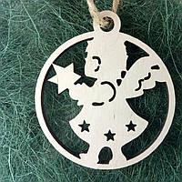 Деревянные новогодние украшения Shasheltoys 9 см (010254)