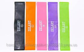 Фітнес гумки ZELART 5 штук, еластичні фітнес стрічки