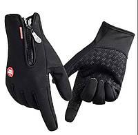 Зимние перчатки утепленные на флисе зимние (для сенсорных экранов телефонов) вело перчатки лыжные мото