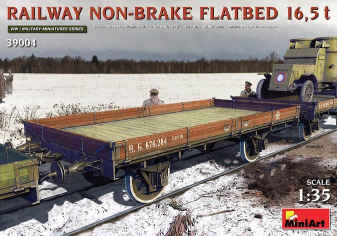 Железнодорожная платформа 16,5 т. без тормоза. 1/35 МИНИАРТ 39004, фото 2