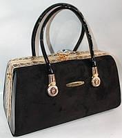 Женская лакированная сумка 91751 Black Сумки женские лакированные. Купить выгодно, фото 1