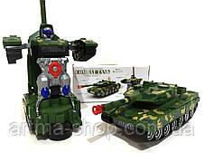 Робот танк трансформер автоматический 2в1 и Led светом 28см
