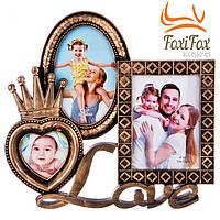 Семейная фоторамка на 3 фото Love