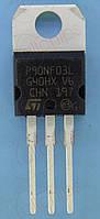 MOSFET N-канал 30В 90А 0.0065Ом STM STP90NF03L TO220