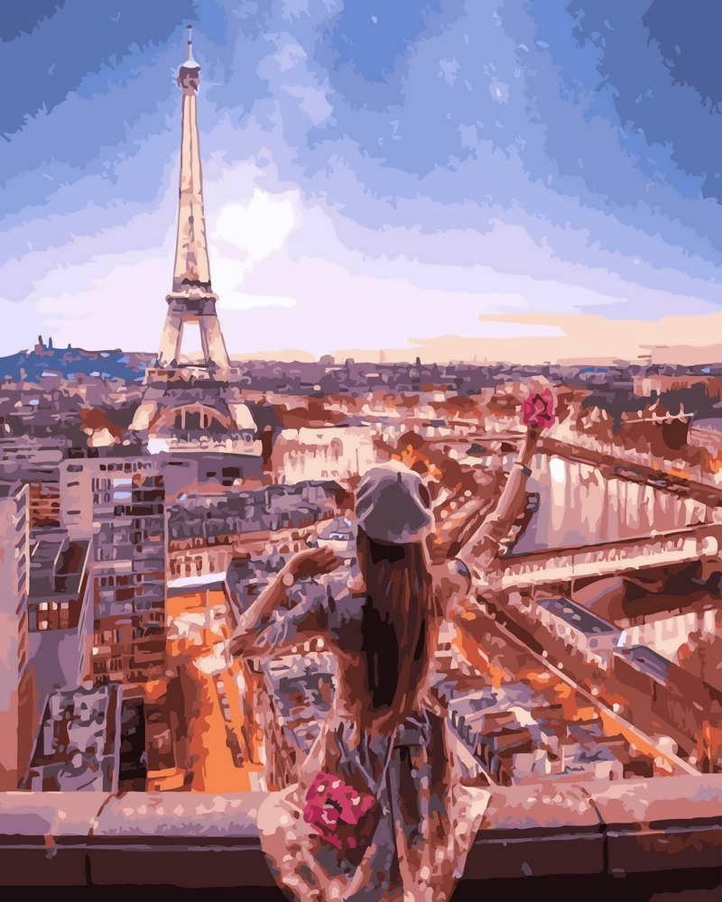 Картина по Номерам 40x50 см. Очарование Парижа Rainbow Art