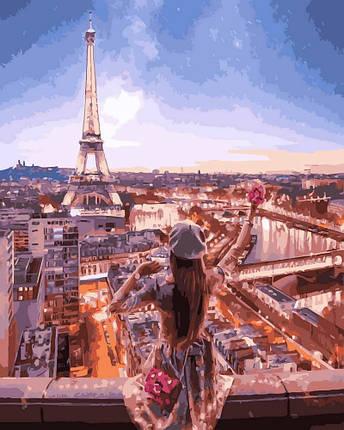 Картина по Номерам 40x50 см. Очарование Парижа Rainbow Art, фото 2