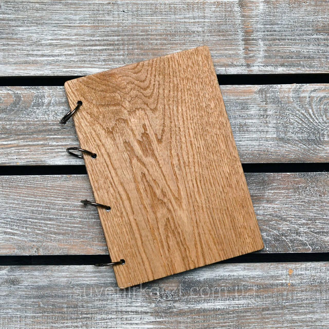 Блокноты с деревянной обложкой. На кольцах А5. (А00622)