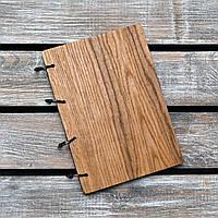 Блокноты с деревянной обложкой. На кольцах А5. (А00624), фото 1