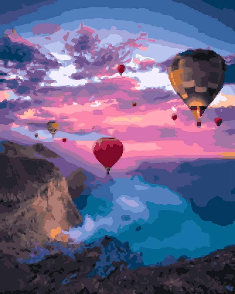 Картина по Номерам 40x50 см. В небе над Каппадокией Rainbow Art