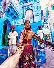Картина по Номерам 40x50 см. Следуй за мной.Марокко  Rainbow Art