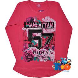 """Яркий батник """"Manhattan"""" , трикотаж , для девочек (рост 146-164 см)"""
