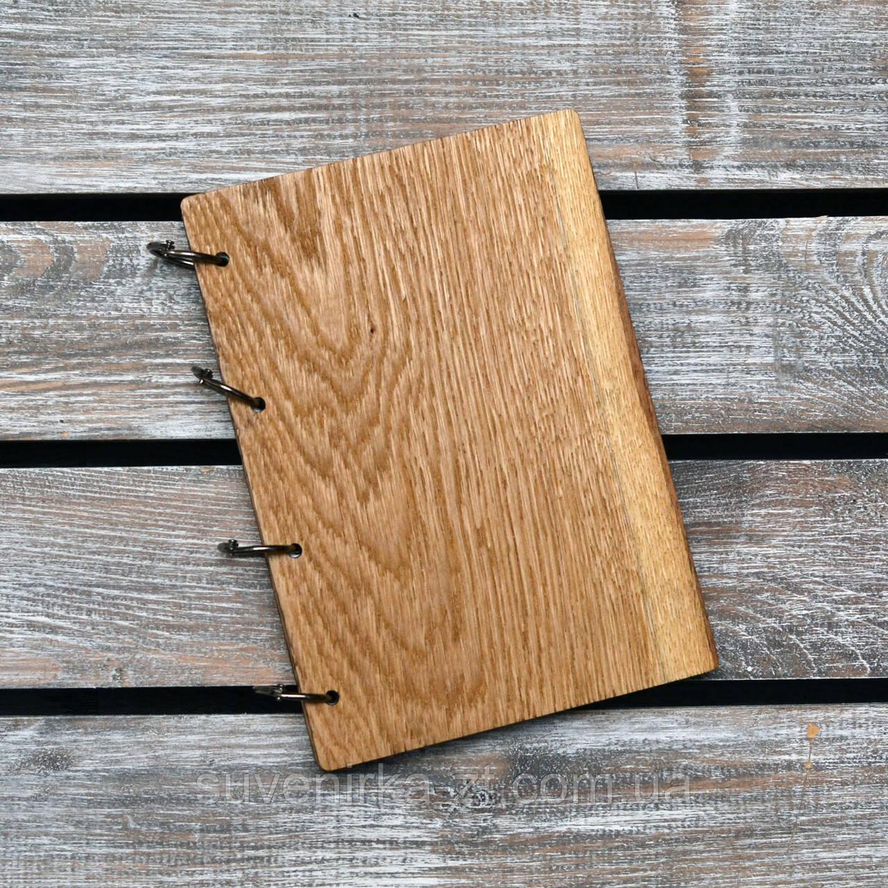 Блокноты с деревянной обложкой. На кольцах А5. (А00627), фото 1