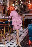 Стильное платье воланы арт с506